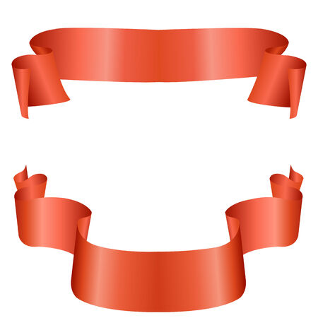 longest: Long flowing red tape for festivities vector Illustration