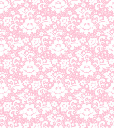 seamless lace with floral pattern on a pink background