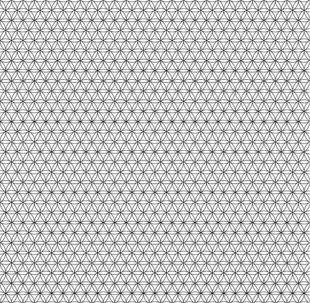 black patterned net lace on white background Illustration