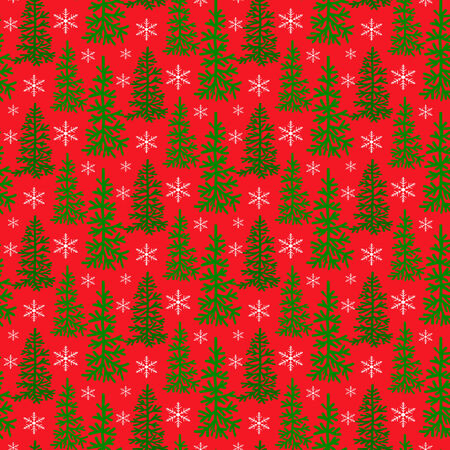 Stylish Christmas seamless pattern with trees
