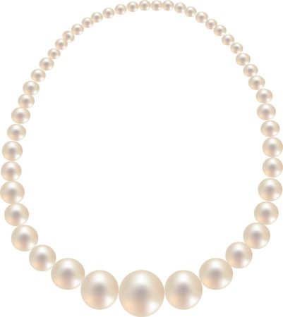 jewel in the form of pearl necklace Illustration