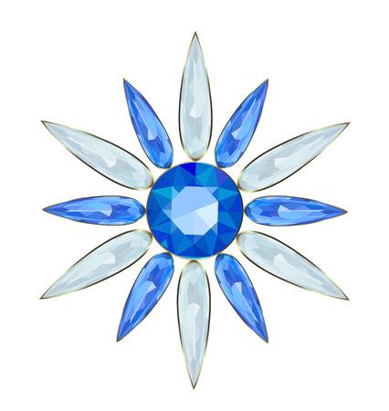 strass: Schmuck in Form von Schneeflocken f�r Weihnachten Design