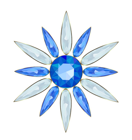 Jewelry in form of snowflakes for Christmas design Illustration