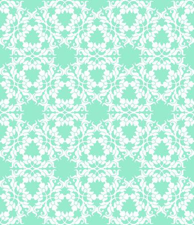 Floral nahtlose weißem Muster auf einem türkisfarbenen Hintergrund Standard-Bild - 31630338