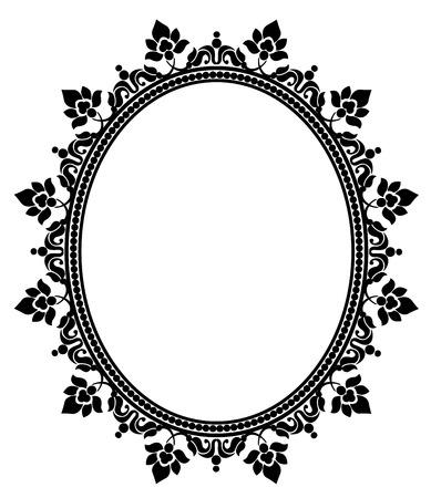 Elegante cornice di pizzo nero su sfondo bianco Archivio Fotografico - 31844030