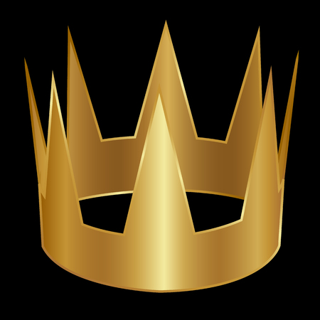 Gold vintage crown isolated on a black background