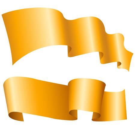 libbenő: Két libbenő arany szalaggal fehér alapon