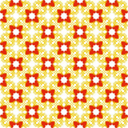 vintage background: Valentine seamless pattern with hearts on white background Illustration