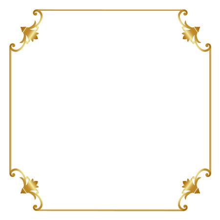 Elegante cornice oro isolato su sfondo bianco Archivio Fotografico - 38463276
