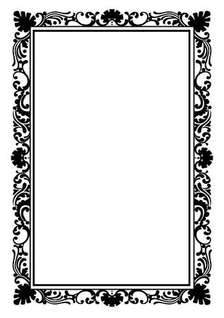 Retro stylish frame, the card layout for decoration