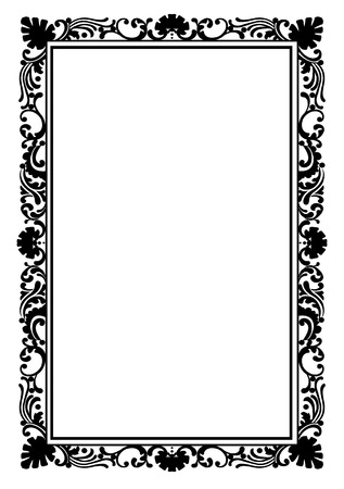 Retro stylish frame, the card layout for decoration