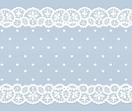 Pizzo bianco modello vintage su sfondo grigio Archivio Fotografico - 38472031