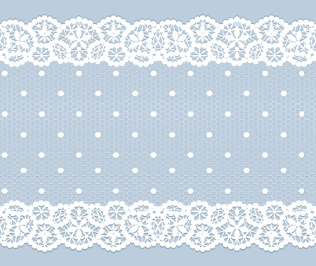 White lace vintage pattern on gray background