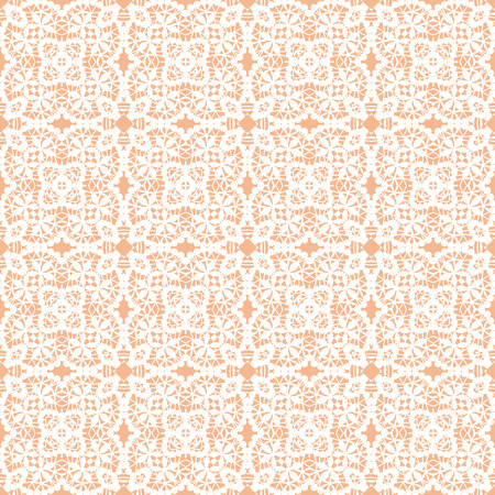 seamless lace with white pattern on a beige background Illustration