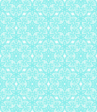 wallpapers: Turquoise lace with floral pattern on a white background