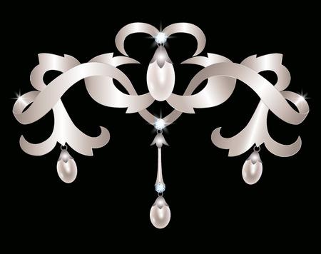 silver jewelry: Silver jewelry Illustration