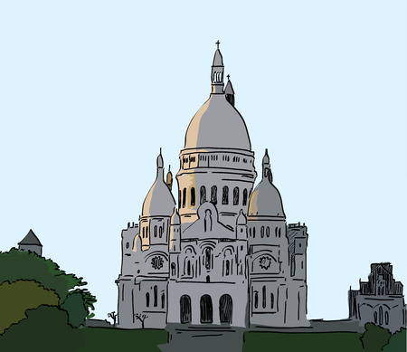 coeur: illustration of Basilique du Sacre Coeur, Paris