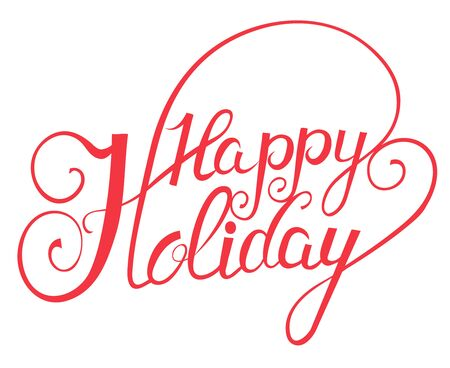 happy holidays: Elegant Lettering in Script Style: Happy Holidays Illustration