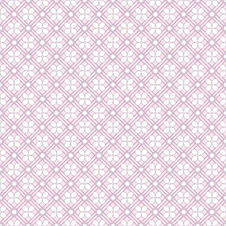 White patterned net lace on pink background Illustration