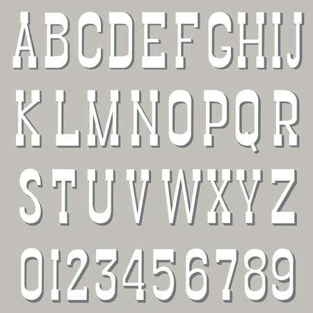 serif: White serif font on a gray background Illustration