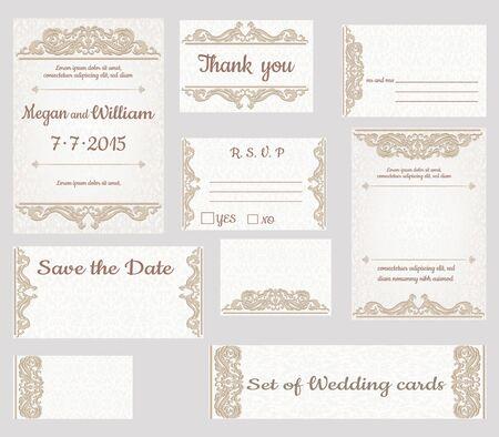 cenefas decorativas: Fije las tarjetas de invitaci�n de la boda con bordes decorativos