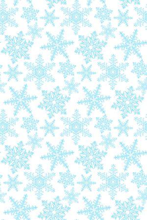 blue snowflakes: Seamless white background with blue snowflakes pattern Illustration