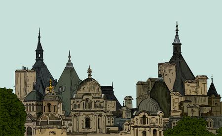 panoramas: Sketch panoramas central part of London