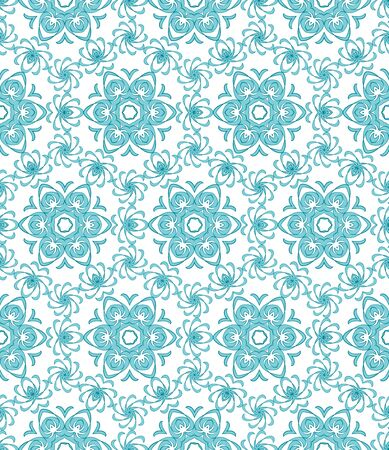 blue floral: Seamless blue floral pattern on a white background Illustration