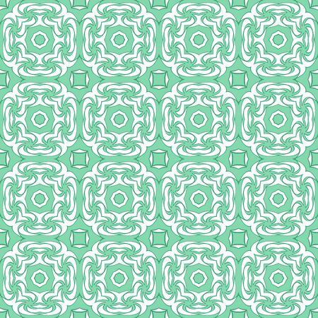 sophisticated: Sophisticated green seamless abstract pattern on a white