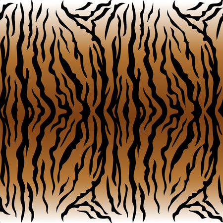 Dierlijke druk, tijger textuur naadloze achtergrond oker kleur Stock Illustratie