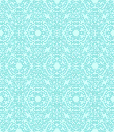 Sophisticated seamless abstract pattern on the turquoise background