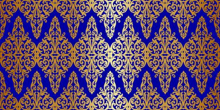 brocade: Vector ornate seamless borders in Eastern style Illustration