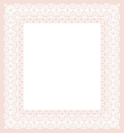 corte laser: marco blanco con el patrón abstracto sobre un fondo rosa. plantilla de corte por láser