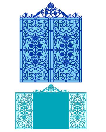 Tarjeta para el corte por láser vs troquelado. tarjeta de invitación de la boda del corte del laser Ilustración de vector