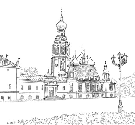 belfry: sketch of the Resurrection Cathedral
