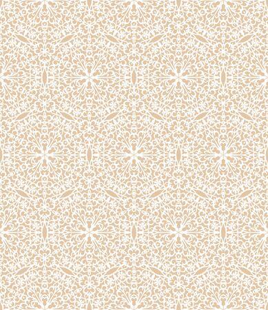 White decorative pattern on a beige background