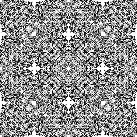 Black lace pattern illustration. Illustration