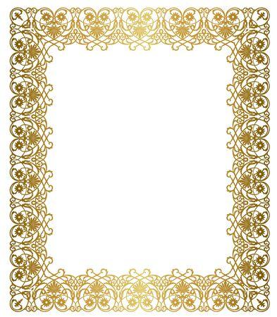 Elegant gold frame illustration.