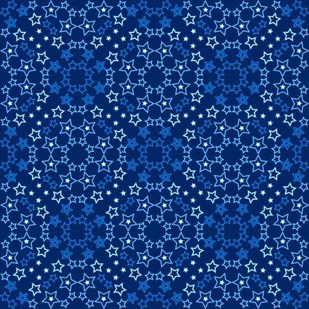 Starry blue pattern illustration. Illustration