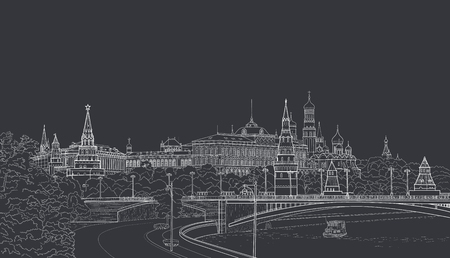 Sketch of the Moskow Kremlin