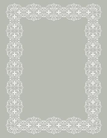 delicate white frame Illustration