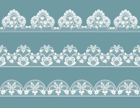 Set of lace borders Illustration