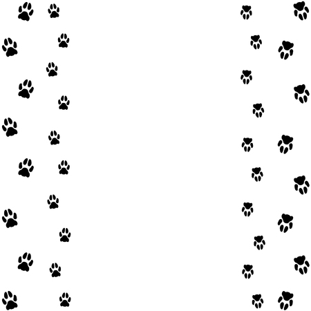 Background with cat tracks