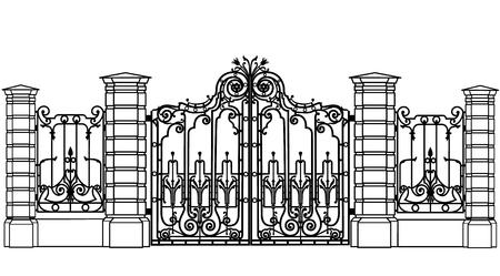 Dates and fences Stock Illustratie