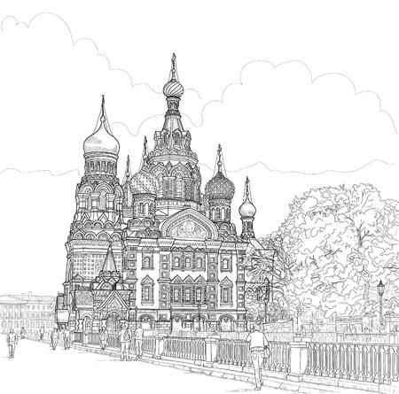 sketch of the temple Illusztráció