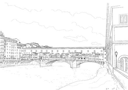 Sketch of the old bridge