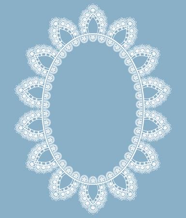 Oval openwork frame Ilustracja