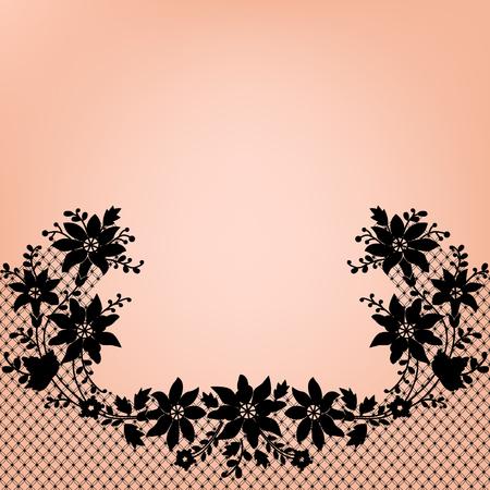 Black lace background Illustration