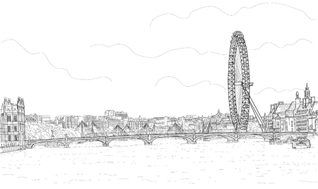 Sketch of the panorama of London 写真素材 - 101977440