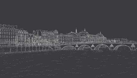 Sketch of Seine embankment
